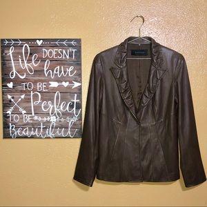 Elie Tahari Leather Blazer/Jacket